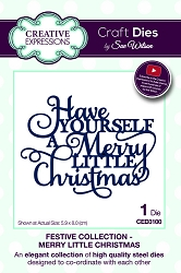 Sue Wilson Designs - Die - Festive Collection Merry Little Christmas