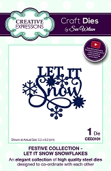 Sue Wilson Designs - Die - Festive Collection Let It Snow