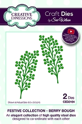 Sue Wilson Designs - Die - Festive Collection Berry Bough