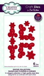 Sue Wilson Designs - Die - Festive Collection Snowflake Flourish & Corner