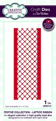 Sue Wilson Designs - Die - Festive Collection Lattice Ribbon