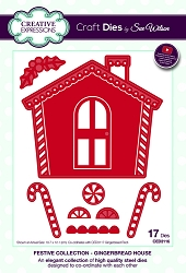Sue Wilson Designs - Die - Festive Collection Gingerbread House (works with: CED3117)