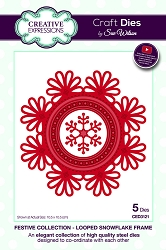 Sue Wilson Designs - Die - Festive Collection Looped Snowflake Frame