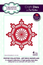 Sue Wilson Designs - Die - Festive Collection Art Deco Snowflake
