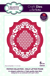 Sue Wilson Designs - Die - Festive Collection Holly Lattice Frame