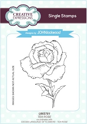 Creative Expressions - Cling Rubber Stamp - Tea Rose