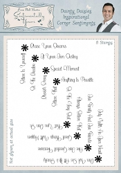 Creative Expressions - Clear Stamp - Dainty Daisies Inspirational Corner Sentiments by Phill Martin