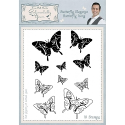 Creative Expressions - Clear Stamp - Buttefly Elegance Butterfly Icons by Phill Martin