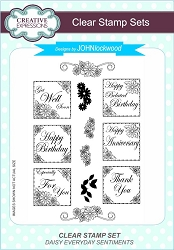 Creative Expressions - Clear Stamp - Daisy Everyday Sentiments by John Lockwood