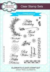 Creative Expressions - Clear Stamp - Daisy Trail Elements by John Lockwood