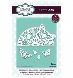 Creative Expressions - Die - Paper Cuts Collection Butterfly Circle