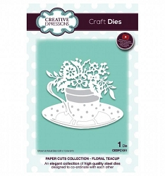Creative Expressions - Die - Paper Cuts Collection Floral Teacup
