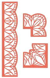 Sue Wilson Designs - Die - Indonesian Collection - Borders & Corners