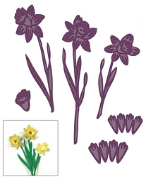 Sue Wilson Designs - Die - Finishing Touches Collection - Spring Daffodils