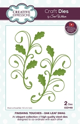 Sue Wilson Designs - Die - Finishing Touches Collection - Oak Leaf Swag
