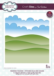 Sue Wilson Designs - Die - Finishing Touches Collection - Stitched Hills and Clouds