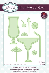 Sue Wilson Designs - Die - Necessities Collection - Cocktail Glasses