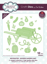 Sue Wilson Designs - Die - Necessities Collection - Wooden Garden Cart