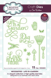 Sue Wilson Designs - Die - Necessities Collection - Life is a Garden