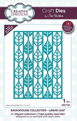 Sue Wilson Designs - Die - Backgrounds Collection - Linear Leaf Background