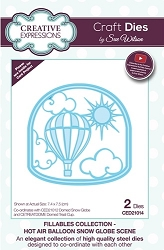 Sue Wilson Designs - Die - Fillables Collection - Hot Air Balloon Snow Globe Scene