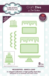 Sue Wilson Designs - Die - Necessities Collection - Make A Cake
