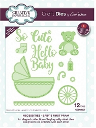 Sue Wilson Designs - Die - Necessities Collection - Baby's First Pram