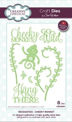 Sue Wilson Designs - Die - Necessities Collection - Cheeky Monkey