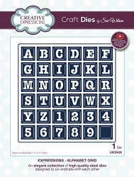 Sue Wilson Designs - Die - Expressions Collection - Alphabet Grid