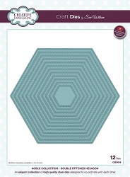 Sue Wilson Designs - Die - Noble Collection - Double Stitched Hexagon (requires large format die cutting machine)