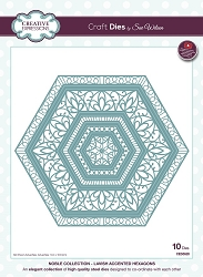 Sue Wilson Designs - Die - Noble Collection - Lavish Accented Hexagons (requires large format die cutting machine)