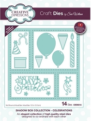 Sue Wilson Designs - Die - Shadow Box Collection - Celebrations