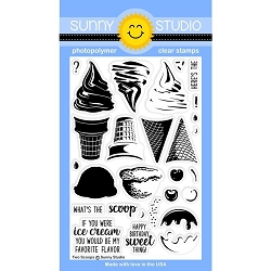 Sunny Studio - Clear Stamp - Two Scoops