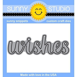Sunny Studio - Cutting Dies - Wishes word