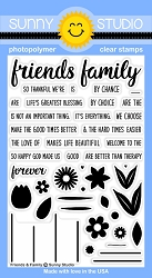 Sunny Studio - Clear Stamp - Friends & Family