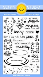 Sunny Studio - Clear Stamp - Froggy Friends