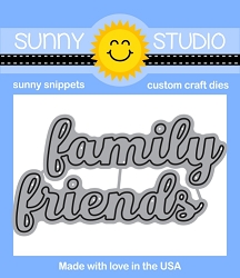 Sunny Studio - Cutting Dies - Friends & Family Words