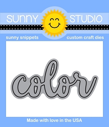 Sunny Studio - Cutting Dies - Color Word