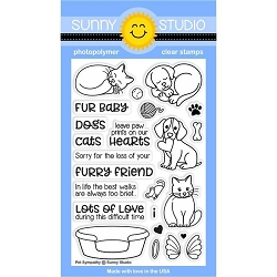 Sunny Studio - Clear Stamp - Pet Sympathy