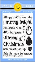 Sunny Studio - Clear Stamp - Merry Sentiments