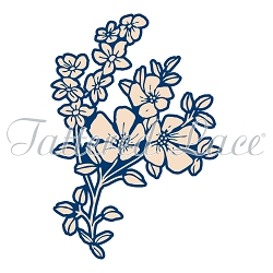 Tattered Lace - Dies - Whitework Ditsy Flowers