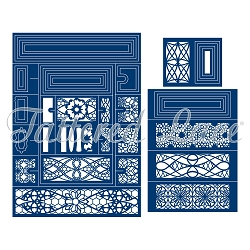 Tattered Lace - Dies - Concertina Card (requires large format die cutting machine)