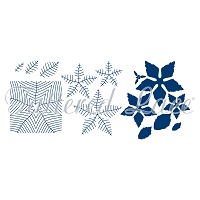 Tattered Lace - Dies - Essentials Mega Poinsettia (with embossing folders)