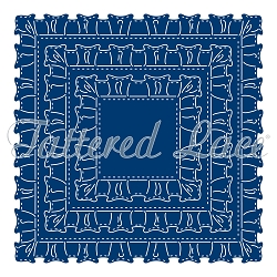 Tattered Lace - Dies - Velvet Lace Ruffle Squares (requires large format die cutting machine)