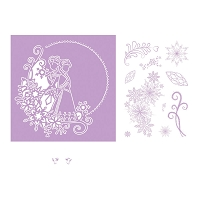 Tattered Lace - Dies - Disney Frozen Melded Elsa and Anna Die & Stamp Set