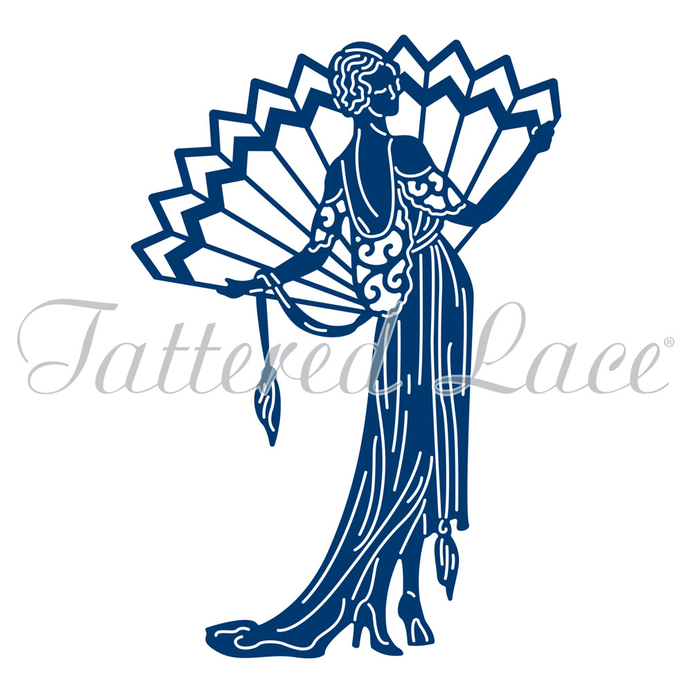 Tattered lace dies art deco pure decadence lady