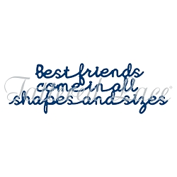 Tattered Lace - Dies - Essentials Best Friends Sentiments