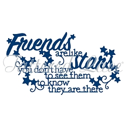 Tattered Lace - Dies - Friends are like Stars