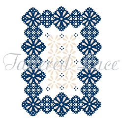 Tattered Lace - Dies - Whitework Frame embossing die