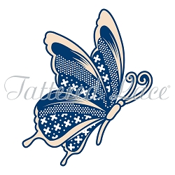 Tattered Lace - Dies - Whitework Butterfly embossing die
